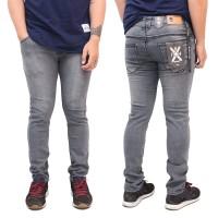 Celana jeans Pria-Skinny Jeans-All Brand - Abu-abu, S
