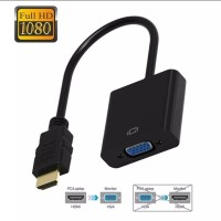Kabel Converter HDMI to VGA Full HD 1080P Black