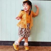 Kebaya Brokat Batik Organza | Kebaya Brokat Anak | Kebaya Batik Anak
