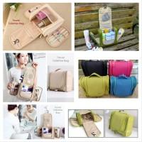 Toiletry Pouch Travel Bath Organizer Bag Tas Kosmetik Byk Sekat tool