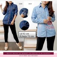 DN Atasan Blouse Kemeja Jeans Wanita (XL) #386#