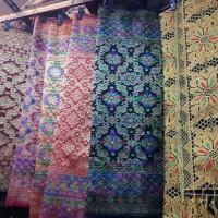 kain songket palembang panca warna