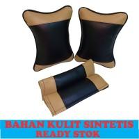 BANTAL LEHER BANTAL MOBIL HEADREST MOBIL AKSESORIS INTERIOR MOBIL
