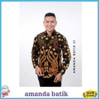 Ternama Batik Sarimbit Batik Pria Lengan Panjang Tenun Sutra Katun