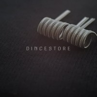 Alien Fused Clapton Full TM Twisted Messes Ni80 Prebuild Coil by Dince