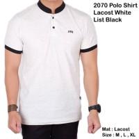 Sale Kemeja Koko Lengan Pendek Polos Putih / Baju Pria Kerah Sanghai