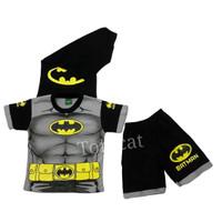 Setelan Pendek Batman Otot Abu Kaos Baju Anak Laki Laki Cowok - 10
