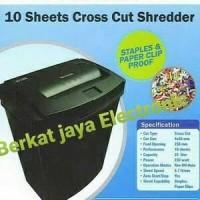 """Penghancur Kertas Secure Paper Schredder EZSC 10A """" Cross Cut """""""