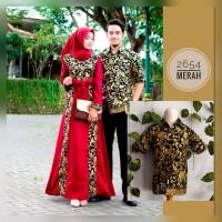 Couple Family Batik Bakung Muslim Plus Anak