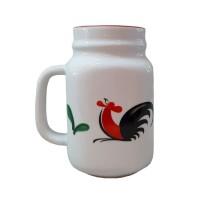 Mug Jar/Mug Jar Ayam Jago/Mug Porcelain/Jar Mug Porcelain/Harvest Jar