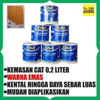 Cat Minyak Kayu Besi Envi 0,2 Liter ( Warna Emas )