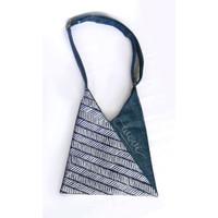 Tas Selempang / Sling Origami motif batik/denim