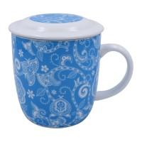 KedaungHome COFFEE MUG + LID- KPZ-02-CMT-DIEGO-BLUE HNP15681