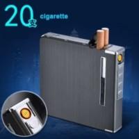 Korek Api Elektrik Kotak Rokok Aluminium 20 Slot