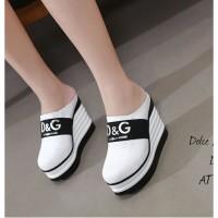 Sepatu sandal wedges sneakers wanita aj 18