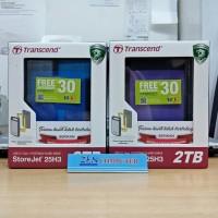 Transcend Storejet 25H3 2TB Harddisk External Antishock