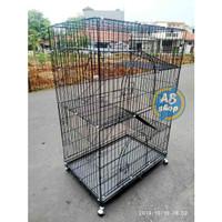Kandang kucing 4 tingkat Lipat RODA ukuran XXXL P90x60x135