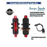 Lampu Laser Belakang Sepeda Bisa Di Cas Ulang Gatis Kabel USB