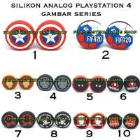 2 Pcs Topi Silicon Silikon Analog Thumbgrip PS4 Playstation 4 Gambar