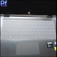 HP Pavilion x360 14 Laptop Keyboard Protector Black Cover Pelindung - Putih
