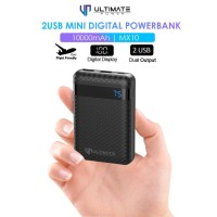 Ultimate Power 2USB Mini Digital Powerbank 10000mAh MX10 garansi resmi