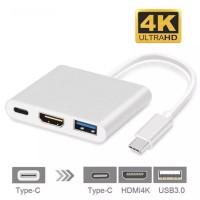 Kabel Converter Extension USB 3.1 Type C to HDMI 3 in 1 Laptop Dan Mac