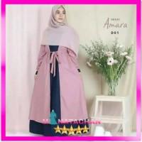 Baju Gamis Wanita Terbaru / Dress Remaja Muslim Kekinian 2in1