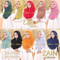 Jilbab Instan Zain Collection Dilara Brand Original