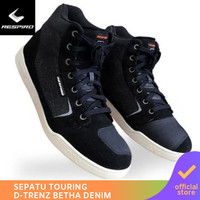 Respiro D'trenz Betha Denim Black White | Sepatu Motor Touring Pria