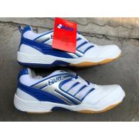 Sepatu Badminton Hart HS303 white/blue ! 100%ori