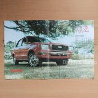 Poster kalender 1974 mobil mazda 808 majalah lawas asli jadul vintage