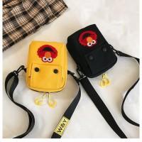 tas anak selempang wanita pria unisex elmo - sling bag abg kecil mini