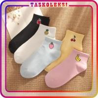TK R139 Kaos Kaki Motif Buah Cute Kaoskaki Pendek Socks Fruit Korea