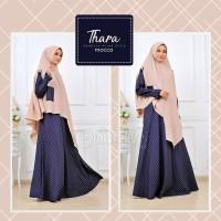 Thara Mocca Dress Syari by Oribelle Hijab Style