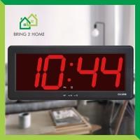 LED Clock Jam Dinding Digital Suhu Temperatur Besar Meja CX-2288 Merah