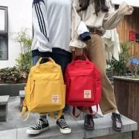 Tas backpack Kampus Ransel Warna Solid Wanita Korea Versi Siswa SMA