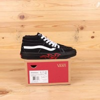 Vans Sk8 Mid Flame Cut Out Black