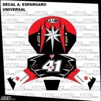 Stiker Decal Helm Motif A. Espargaro Universal Full