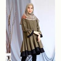 Baju atasan wanita DILHA Tunik blouse Muslim Fashion