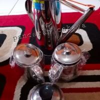 paket teko tea 24 cm + mug stainless 2 pcs + saringan