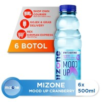 Mizone Isotonik Bernutrisi Mood Up Cranberry 500ml (6 botol)