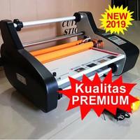 Mesin Laminasi Kertas 3510 Alat Laminating Roll Mini 2 Muka 2 Sisi