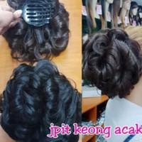 Wig Sanggul Jepit keong acak Praktis