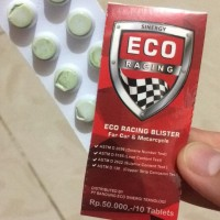 Eco Racing Blister Tablet Aditif Penghemat BBM Bensin
