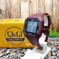 Q&Q QnQ QQ Digital Jam Tangan Strap Karet Merah M158J008Y Original