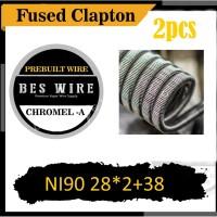 FUSED CLAPTON NI90 28*2+38 CHROMEL A - 2pcs