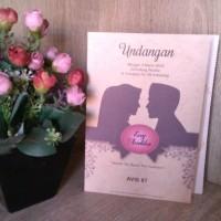 Undangan Pernikahan Avis kd 87 Murah Romantis Siluet