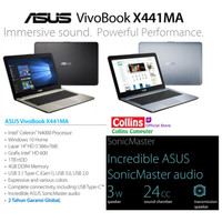 LAPTOP ASUS X441MA-GA011T - N4000|RAM 4GB|HDD 1TB|DVD|14|W10|BLACK