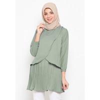 Lika Tunik Baju Atasan Blouse Wanita Baju Wanita Fashion Muslim Polos