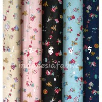 Kain Bahan Katun Jepang Japan Tokai Gamis Tunik Seragam motif KJ222
